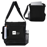 Impact Vertical Black Computer Messenger Bag-NYIT College of Osteopathic Medicine - Horizontal