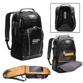 Ogio Bolt Black Backpack-NYIT College of Osteopathic Medicine - Horiontal