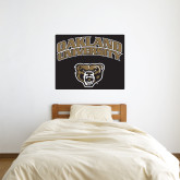 3 ft x 3 ft Fan WallSkinz-Oakland University with Grizzly Head