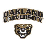 Medium Decal-Oakland University with Grizzly Head, 8 inches wide