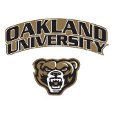 Large Decal-Oakland University with Grizzly Head, 12 inches wide