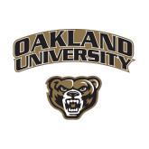 Small Decal-Oakland University with Grizzly Head, 6 inches wide