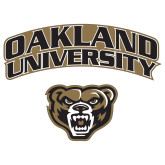 Extra Large Decal-Oakland University with Grizzly Head, 18 inches wide