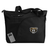 Excel Black Sport Utility Tote-Grizzly Head