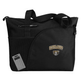 Excel Black Sport Utility Tote-Oakland University with Grizzly Head