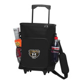 30 Can Black Rolling Cooler Bag-Grizzly Head