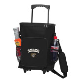 30 Can Black Rolling Cooler Bag-Oakland University with Grizzly Head