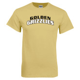 Champion Vegas Gold T Shirt-Arched Golden Grizzlies