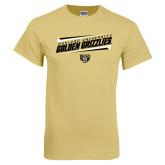 Champion Vegas Gold T Shirt-Slanted Golden Grizzlies Stencil