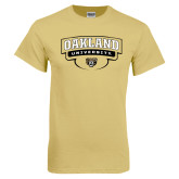 Champion Vegas Gold T Shirt-Arched Oakland University Stacked