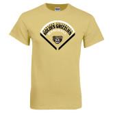 Champion Vegas Gold T Shirt-Golden Grizzlies Baseball Diamond