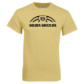Champion Vegas Gold T Shirt-Golden Grizzlies Basketball Half Ball