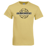 Champion Vegas Gold T Shirt-Golden Grizzlies Basketball Lines