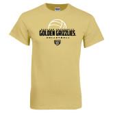 Champion Vegas Gold T Shirt-Golden Grizzlies Volleyball Half Ball