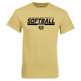 Champion Vegas Gold T Shirt-Softball Stencil