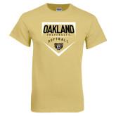 Champion Vegas Gold T Shirt-Oakland University Softball Plate