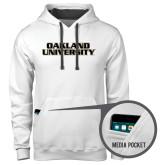 Contemporary Sofspun White Hoodie-Oakland University