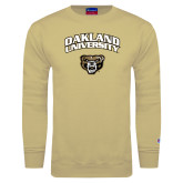Champion Vegas Gold Fleece Crew-Oakland University with Grizzly Head