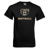 Black T Shirt-Softball