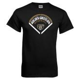 Black T Shirt-Golden Grizzlies Baseball Diamond