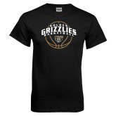 Black T Shirt-Golden Grizzlies Basketball Arched