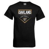 Black T Shirt-Oakland University Softball Plate