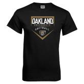 Black T Shirt-Oakland University Softball Plate