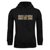 Black Fleece Hoodie-Golden Grizzlies Stacked