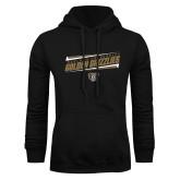 Black Fleece Hoodie-Slanted Golden Grizzlies Stencil
