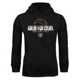 Black Fleece Hoodie-Golden Grizzlies Volleyball Half Ball