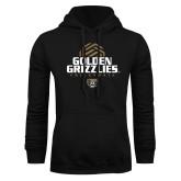 Black Fleece Hoodie-Golden Grizzlies Volleyball Stacked