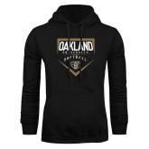 Black Fleece Hoodie-Oakland University Softball Plate