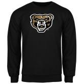 Black Fleece Crew-Grizzly Head