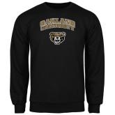 Black Fleece Crew-Oakland University with Grizzly Head
