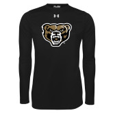 Under Armour Black Long Sleeve Tech Tee-Grizzly Head