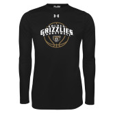 Under Armour Black Long Sleeve Tech Tee-Golden Grizzlies Basketball Arched