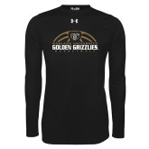 Under Armour Black Long Sleeve Tech Tee-Golden Grizzlies Basketball Half Ball