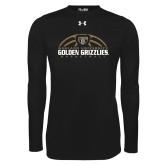 Under Armour Black Long Sleeve Tech Tee-Golden Grizzlies Basketball Half Ball