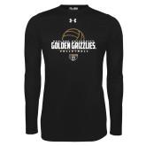 Under Armour Black Long Sleeve Tech Tee-Golden Grizzlies Volleyball Half Ball