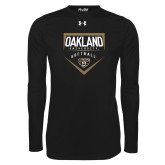 Under Armour Black Long Sleeve Tech Tee-Oakland University Softball Plate