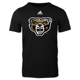 Adidas Black Logo T Shirt-Grizzly Head