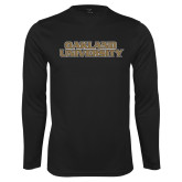 Performance Black Longsleeve Shirt-Oakland University