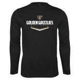 Performance Black Longsleeve Shirt-Golden Grizzlies Baseball Plate
