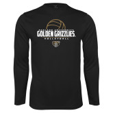 Performance Black Longsleeve Shirt-Golden Grizzlies Volleyball Half Ball