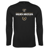 Performance Black Longsleeve Shirt-Golden Grizzlies Soccer Icon