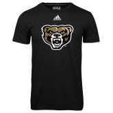 Adidas Climalite Black Ultimate Performance Tee-Grizzly Head