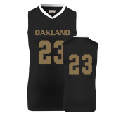 Replica Black Adult Basketball Jersey-#23