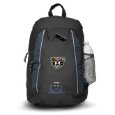 Impulse Black Backpack-Grizzly Head