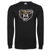Black Long Sleeve T Shirt-Grizzly Head