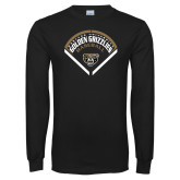 Black Long Sleeve T Shirt-Golden Grizzlies Baseball Diamond